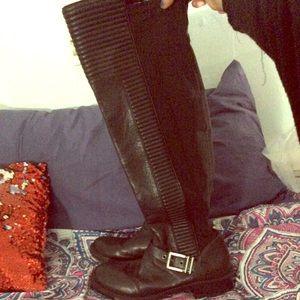 Black leather BCBGgeneration boots